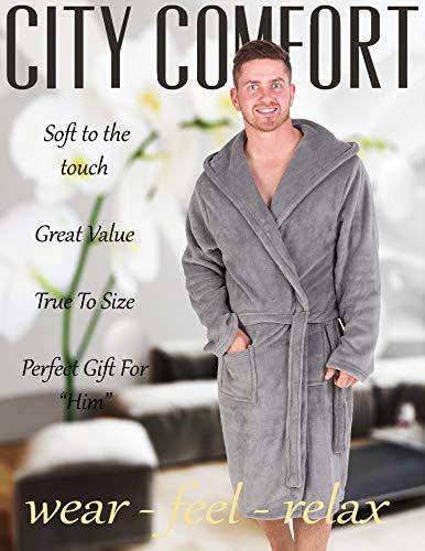 Pile Notte Citycomfort Morbido Vestaglie Da Con Grigio In Cappuccio zXEESZxq