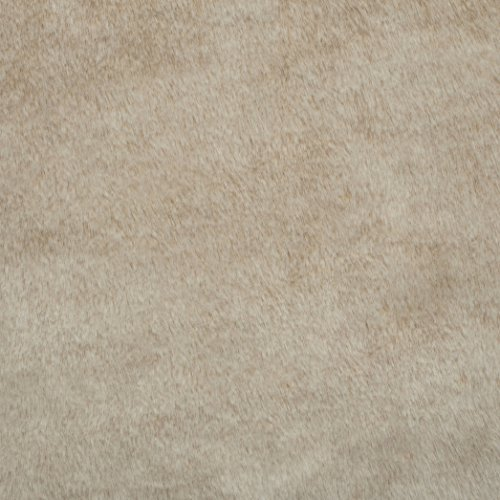 Shannon Fabrics Tip Dyed Sable Faux Fur Cream Frost, Fabric by the Yard
