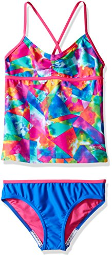 Speedo Girls Tie Dye Sky Two Piece Tankini Set, Size 7, Multicolor ()