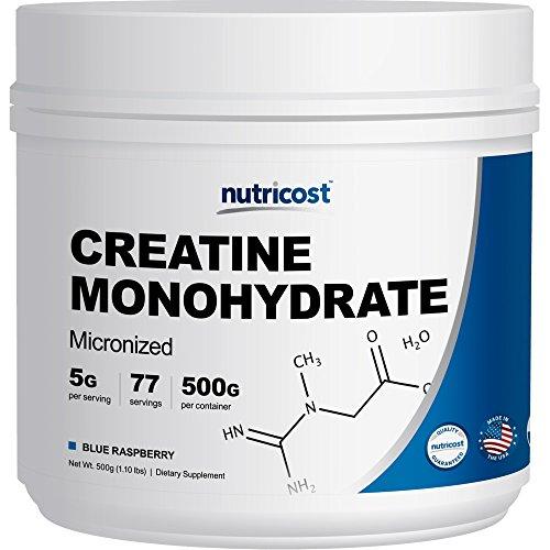 Nutricost Creatine Monohydrate (500 Grams) (Blue Raspberry)