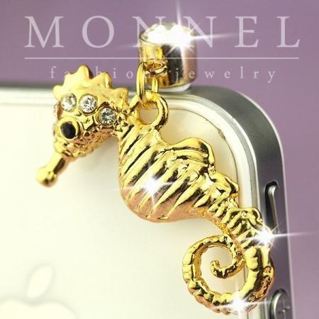 ip559 Cute Sea Horse Anti Dust Plug Cover Charm For iPhone 4 4S Galaxy