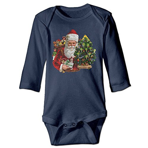 Price comparison product image Santa Claus Christmas Original For Climbing Clothes Infant Rompers Navy