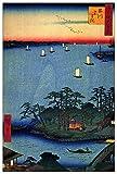 ArtPlaza TW92957 Hiroshige Utagawa - Shinagawa Susaki Decorative Panel 27.5x39.5 Inch Multicolored