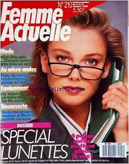 Amazon.fr - FEMME ACTUELLE  No 210  du 03 10 1988 - SPECIAL LUNETTES -MODE  - AU MICRO-ONDES   FLANS DE COURGETTES   CARRES D AGNEAUX - GATEAUX AU  CHOCOLAT ... d1b3a0e028d7