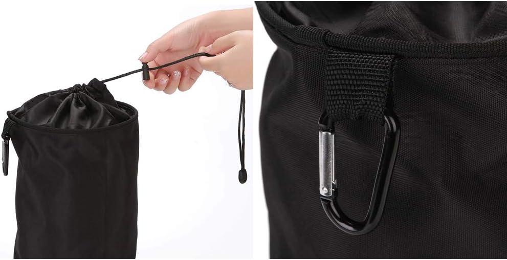 Skitic Peg Bag Water Resistant Durable Hanging Clothespin Bag Hanger Clips Indoor Outdoor Use in Bathroom Utility Room Garden Balcony Black