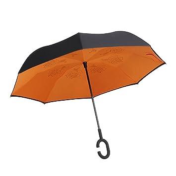 SWEINA Tipo C Reversa Paraguas Doble Capa Paraguas Coche Libre Creativa Paraguas Paraguas Estilo Recto ,