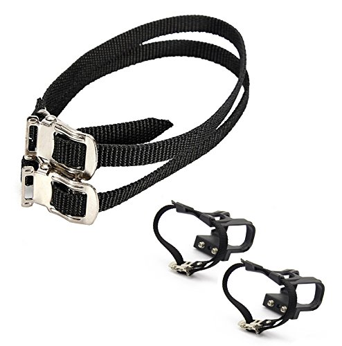 Leadrise®1 Pair Nylon Cycling MTB Road Mountain Bike Bicycle Pedal Toe Clip Strap Belts by Leadrise (Image #1)
