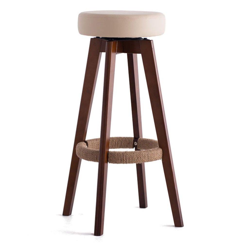 カウンターチェア木製回転シート椅子ハイスツールバーキッチン朝食スツールノルディックシンプルスタイルファッションベージュ (サイズ さいず : 45cm*45cm*65.5cm) B07DHKYZHR 45cm*45cm*65.5cm 45cm*45cm*65.5cm