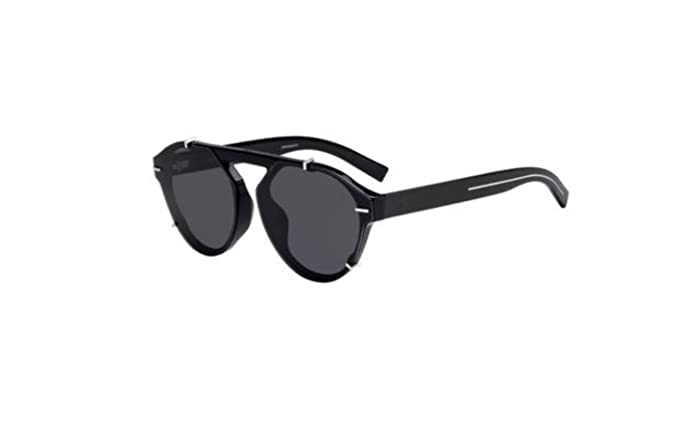 e12f3d3616 Image Unavailable. Image not available for. Colour  Authentic Christian Dior  Homme Black tie 254 FS 0807 2K Black Sunglasses