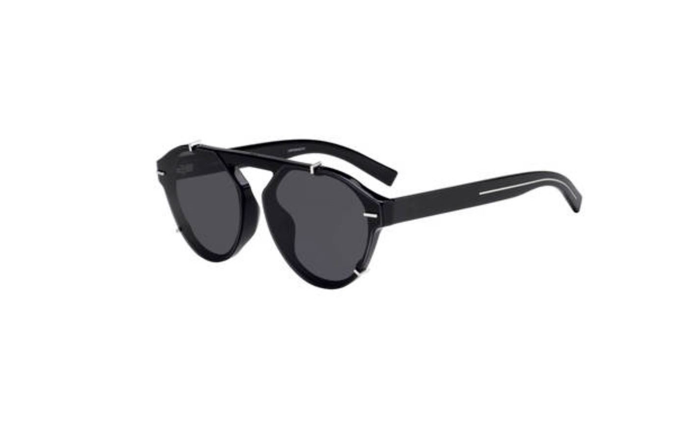 8712e0a988 Authentic Christian Dior Homme Black tie 254 FS 0807 2K Black Sunglasses