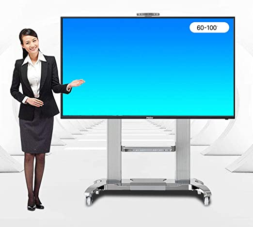 XUE Business Rolling TV Stand Mobile TV Cart, para 60 – 100 ...