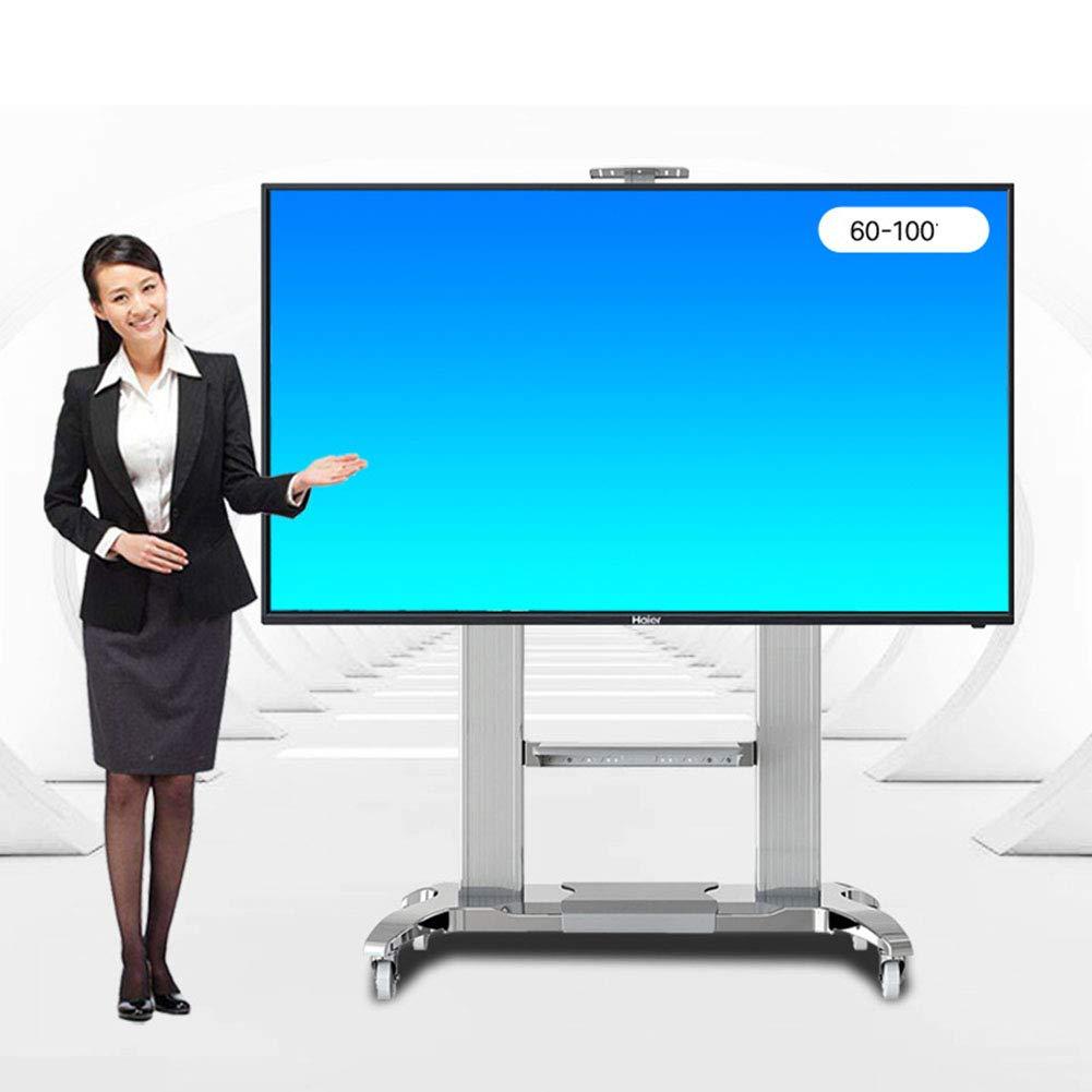 2019年春の ビジネスローリングテレビスタンドモバイル tv LED カート、60-100 インチ インチ LED LCD LCD プラズマフラットパネル360º回転の車輪モバイル調整可能な棚ワイヤー管理会議室ビデオ通話 B07KNZMTN2, ホンヤバケイマチ:d77c0d45 --- mcrisartesanato.com.br