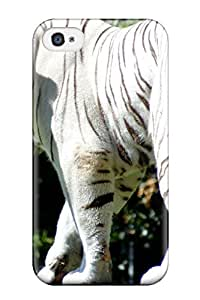 New Style Case Cover KjIXNFt7958mQsSL Rare White Tiger Compatible With Iphone 4/4s Protection Case