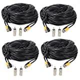 Masione 4 Pack 100ft BNC Video Power Cable Security Camera Wire Cord for CCTV DVR Surveillance System Review