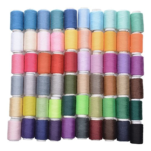 Joinwin®New Hot Selling Pack of 60 Spools Assorted Color 200 Yards Each Unit Polyester Sewing Thread Sewing Supplies For Hand Machine, Thread to sew by Joinwin