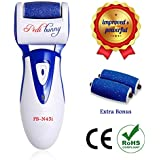 Rechargeable Electric Callus Remover-Foot File for Scrubbing Feet,Micro-Pedi Foot Care Tool-Effectively Buffs Away Dead, Hard Skin, Dry Callused Feet and Cracked Heels-3 Pumice Stone Rollers Included