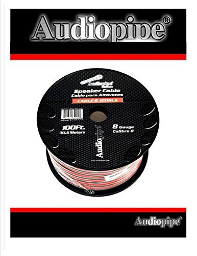 2 Conductor Speaker Wire Audio Cable Audiopipe 100' Feet ()