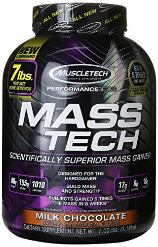 Muscletech Mass-Tech - Chocolate, 1er Pack (1 x 3.18 kg)