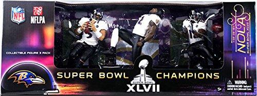 McFarlane Toys Baltimore Ravens NFL Super Bowl Action Figure, 3-Pack