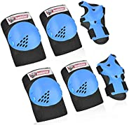 Kids/Youth Knee Pad Elbow Pads Guards Protective Gear Set, Sports Protective Gear Safety pad Safeguard for Rol