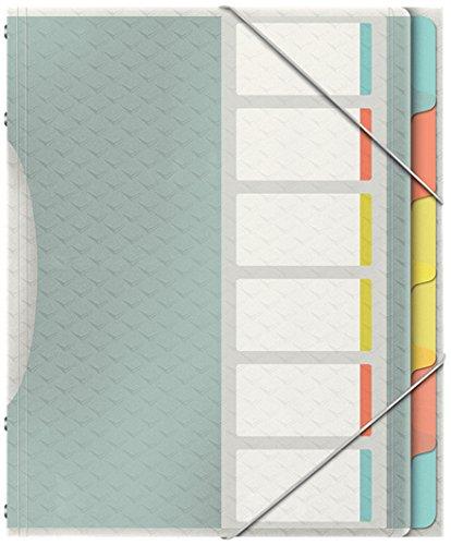 6 Fächer mit Taben, Für bis zu 200 A4 Blatt Leitz A4 Ordnungsmappe