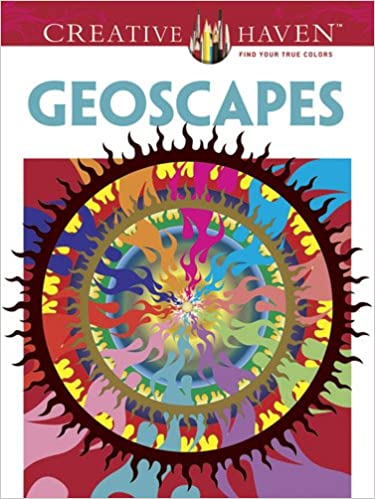 amazoncom creative haven geoscapes coloring book creative haven coloring books adult coloring 0800759493142 hop david books - Creative Haven Coloring Books