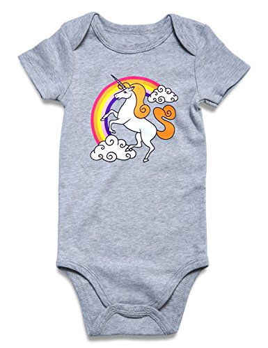 Rainbow Baby Boy Girl Outfit Romper Shower Baby Girl Boy Toddler Clothes Colorful Raninbow Unicorn Ptint Baby Summer Fall Trip Holiday Outfits with Wide Sleeve 1pcs Set Size 70 S -