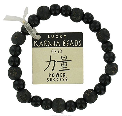 Zorbitz Kama logy Onyx Power and Success Genuine Gemstone Bracelet for Men's, Women's, 8 mm Healing Energy Beads