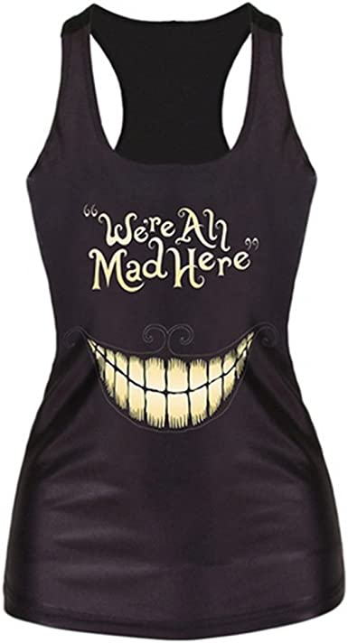 Once upon a time print tank top women/'s ladies vest singlet cami blouse shirt