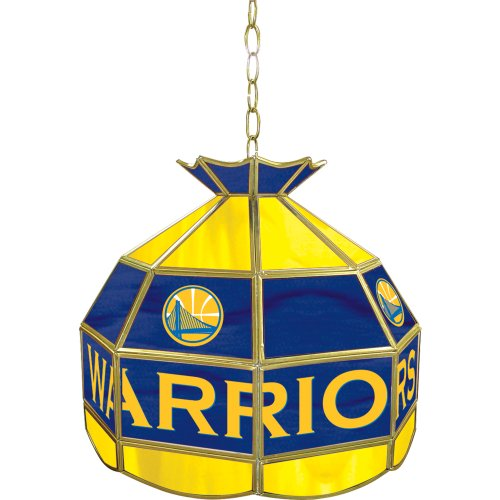NBA Golden State Warriors Tiffany Gameroom Lamp, 16'' by Trademark Gameroom