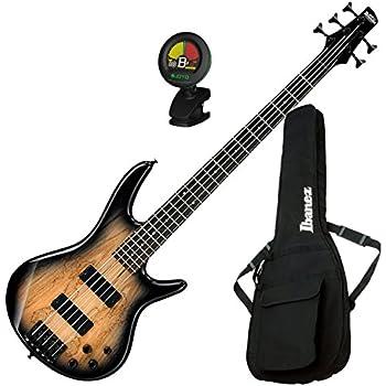ibanez gsr205sm 5 string spalted maple top electric bass guitar natural grey burst. Black Bedroom Furniture Sets. Home Design Ideas