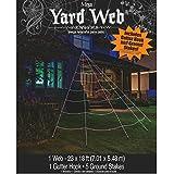 Mega Yard Spider Web Halloween Decor 23' X 18'