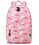 Abshoo Cute Lightweight Middle School Backpacks For Girls Unicorn Kids School Bags (Pink)