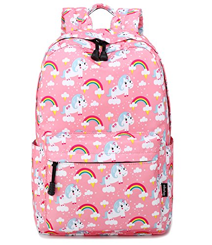 Abshoo Cute Lightweight Middle School Backpacks For Girls Unicorn Kids School Bags (Pink)