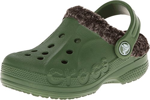 Crocs Baya Heathered Lined Clog - Boys' Seaweed/Mahogany, 6/