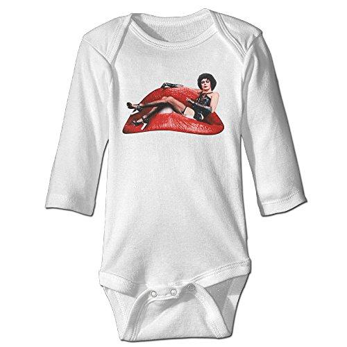 Baby Rocky Horror Costume (Raymond The Rocky Horror Long Sleeve Baby Climbing Clothes White 6 M)