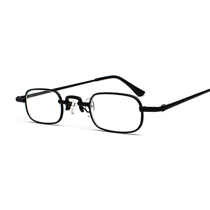 Amazon.com: Gafas de sol retro pequeñas cuadradas de metal ...
