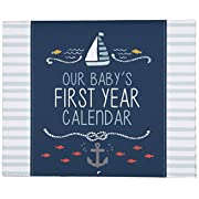 C.R. Gibson Baby's First Year Calendar, By Carter's Stickers Provided, Measures 11 x 18  - Under The Sea