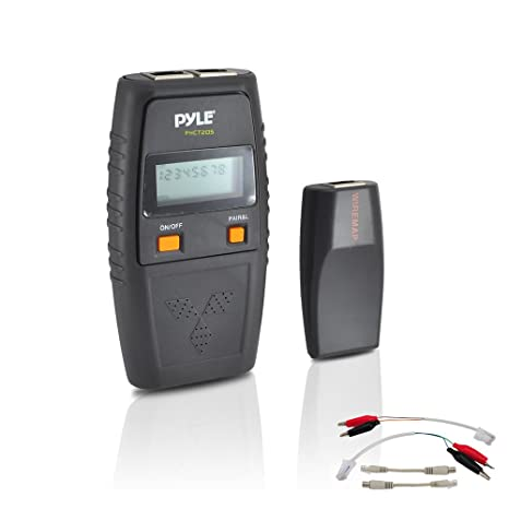 Pyle PHCT205 Network Cable Tester - UTP, FTP, BNC Coaxial, Telephone Continuity,