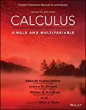 img - for Calculus: Single and Multivariable, 7e Student Solutions Manual book / textbook / text book