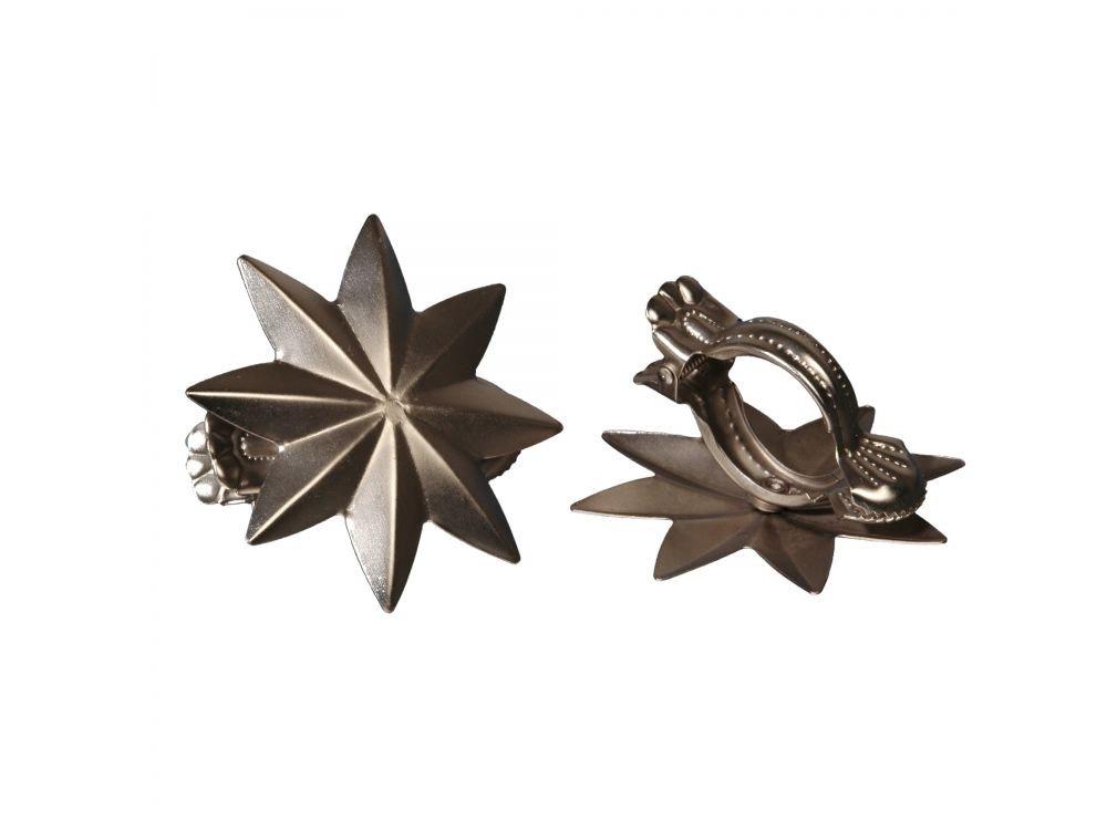 Liedeco donauklammern 'motiv stern'pour tringle-couleur : argenté mat