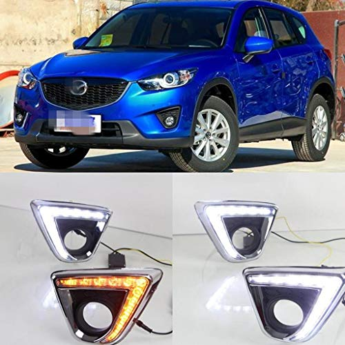 [해외]Auto-Tech 1 Set Car LED light Daytime Running Light Retrofit LED White light color DRL kit For Mazda CX-5 2013-2016 (White to Yellow Light) / Auto-Tech 1 Set Car LED light Daytime Running Light, Retrofit LED White light color DRL k...