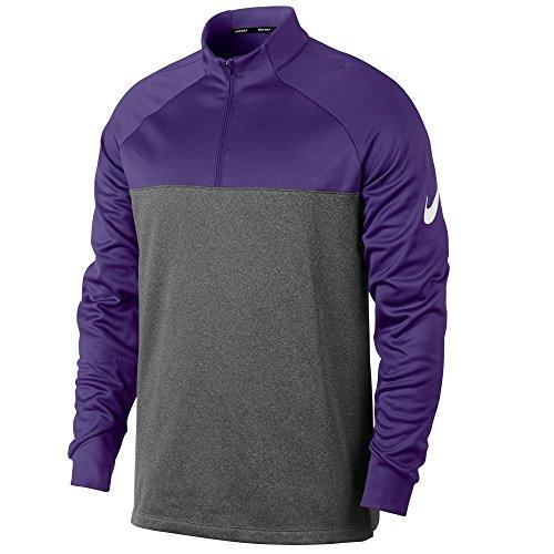 (Nike Therma Core Half-Zip Men's Golf Top (Court Purple/Dark Grey, Medium))