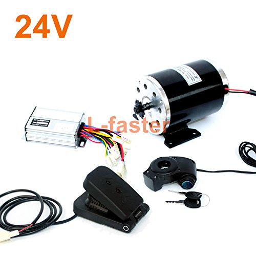 24v36v48v 500ワット電動高速エンジンMY1020起毛モーターで足電動バイク交換モーター使用25 hまたはt8fチェーン B07DLTT9HD 24V pedal kit 24V pedal kit