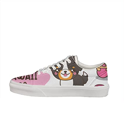 Kawaii Dogs Women's Casual Sneakers Shoes Slip-On Classic Spring Simple