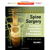 Spine Surgery, 2-Volume Set: Techniques, Complication Avoidance and Management (Expert Consult - Online and Print)