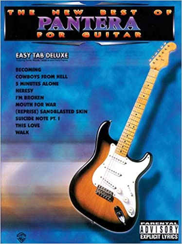 The New Best of Pantera for Guitar: Easy Tab Deluxe: Pantera ...