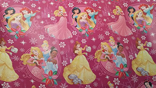 Homemade Tiana Costume (Christmas Wrapping Princess Holiday Paper Gift Greetings Sleeping Beauty Belle Cinderella Tiana 1 Roll Design Festive Wrap Disney Pink)