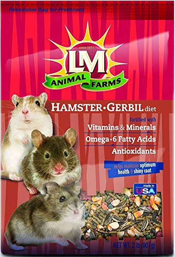 L/M Animal Farms Hamster and Gerbil Diet Food LM12116 2Lb