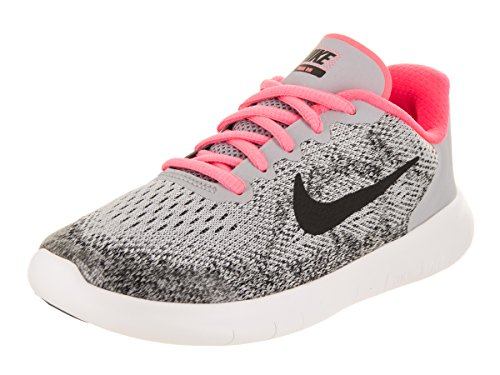 Nike Kids Free RN 2017 (PS) Wolf/Grey/Black/Racer/Pink Running Shoe 2 Kids US